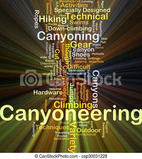 glowing, conceito, canyoneering, fundo - csp30031228