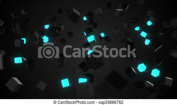glowing cubes abstract background blue glowing cubes abstract 3d
