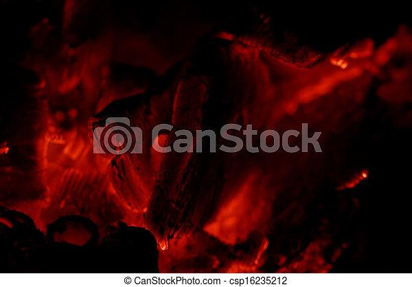 glowing embers - csp16235212
