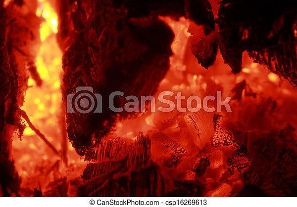 Glowing embers - csp16269613