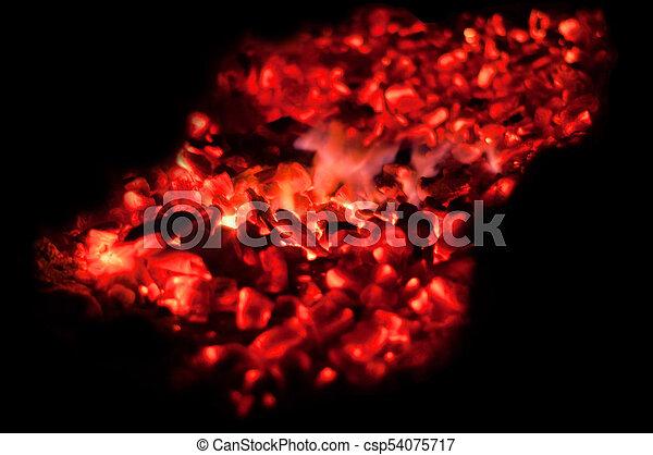 Glowing embers - csp54075717