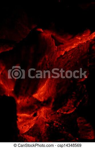glowing embers - csp14348569
