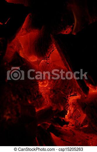 glowing embers - csp15205263
