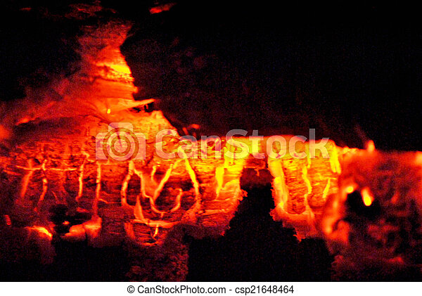 Glowing embers - csp21648464
