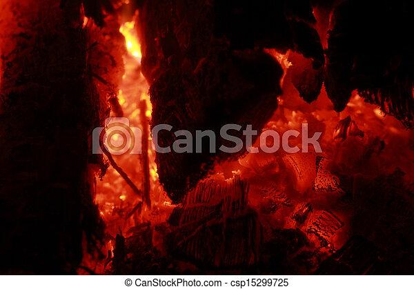 Glowing embers - csp15299725