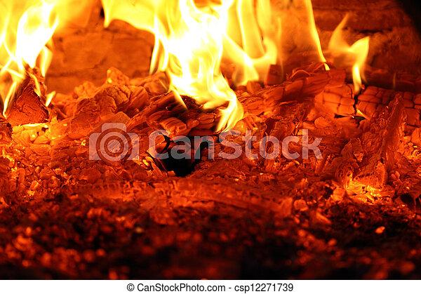 glowing embers - csp12271739
