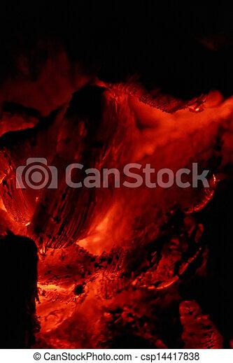 glowing embers - csp14417838