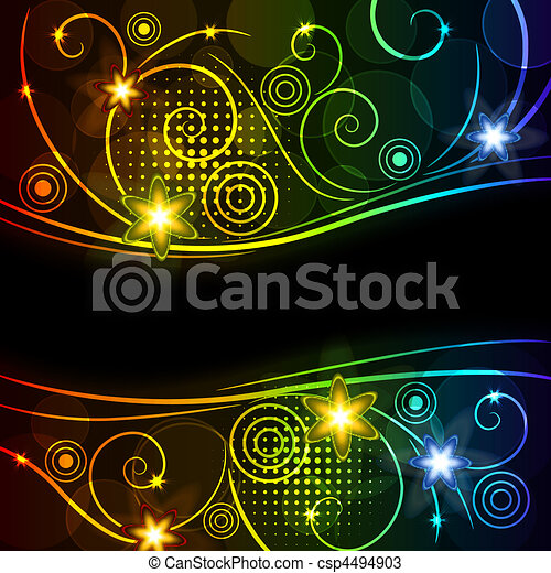 glowing floral background - csp4494903