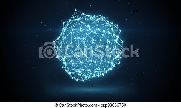 glowing futuristic network shape - csp33666750
