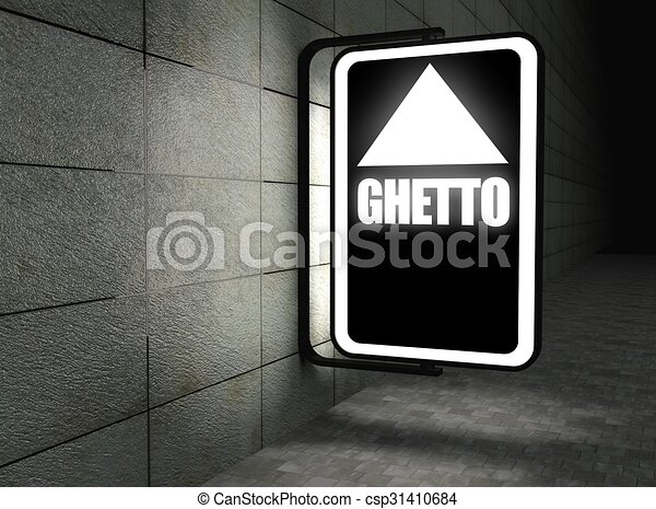 Glowing ghetto sign at night on street stock illustration search glowing ghetto sign at night stock illustration sciox Gallery