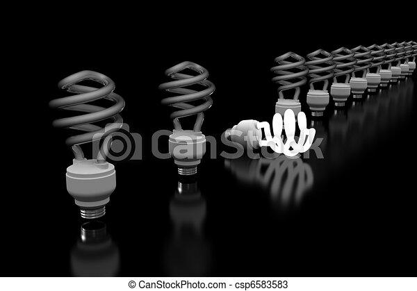 Glowing Lightbulb - csp6583583