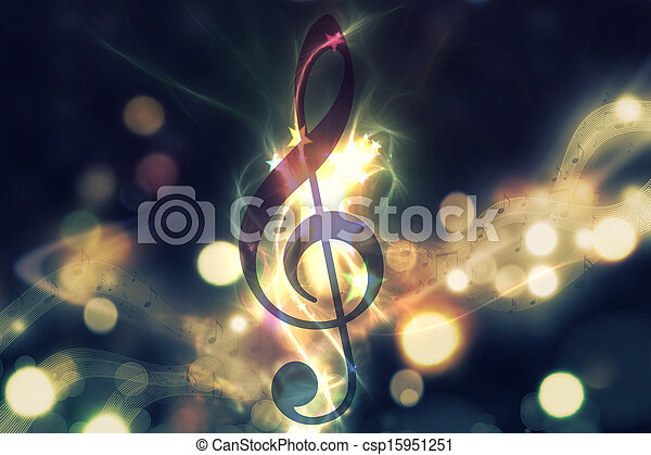 Glowing music background - csp15951251