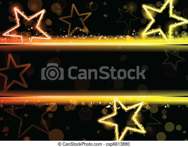 Glowing Neon Stars Background - csp6613880