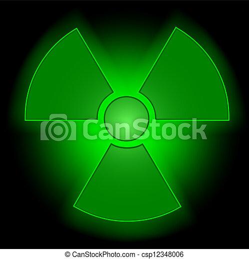Glowing Radioactive Symbol