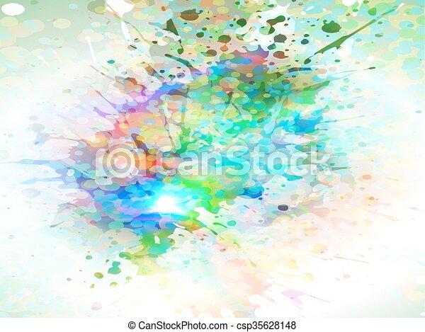 glowing splash - csp35628148