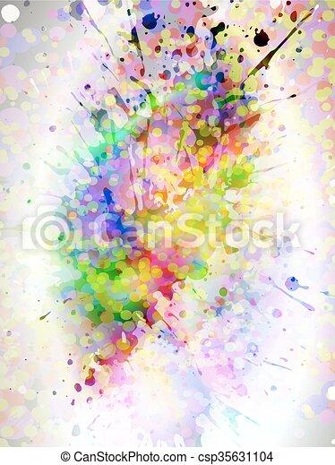 glowing splash, vector - csp35631104