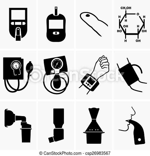 Glucometer, tonometer, inhaler - csp26983567