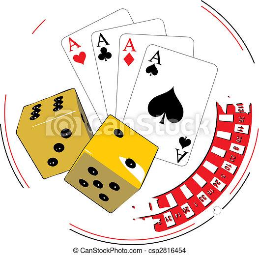 gluecksspiel, abbildung - csp2816454