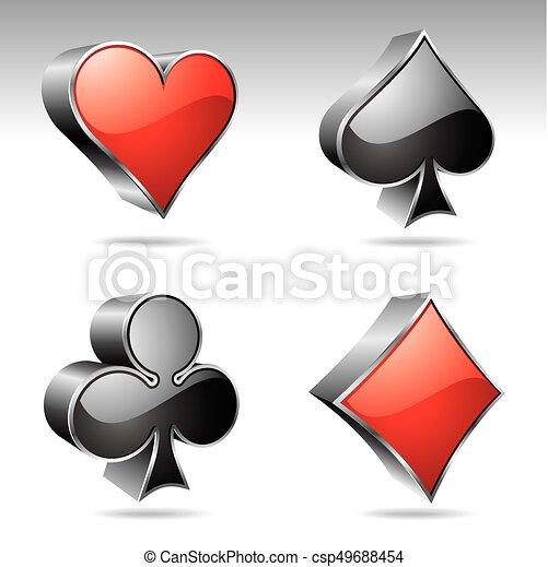 gluecksspiel, elemente, abbildung, kasino - csp49688454
