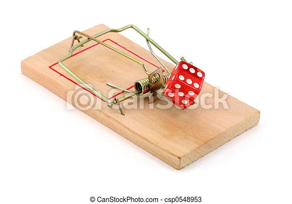 gluecksspiel, falle - csp0548953