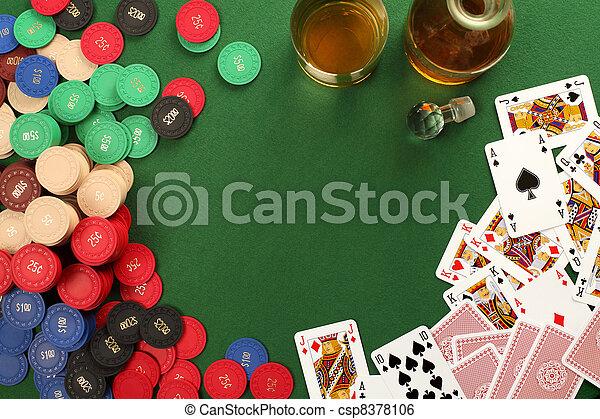 gluecksspiel, hintergrund, tisch - csp8378106