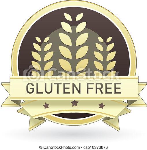 Gluten free food label - csp10373876