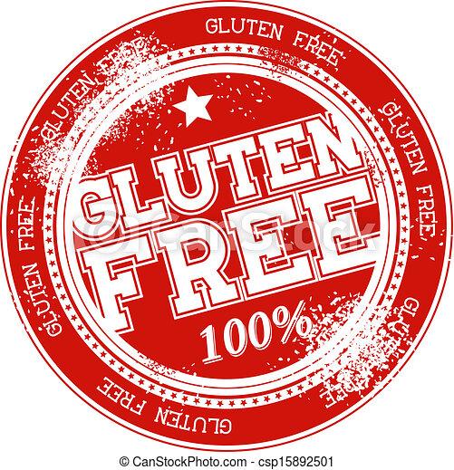 gluten free grunge stamp vector - csp15892501
