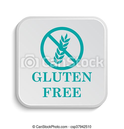 Gluten free icon  internet button on white background