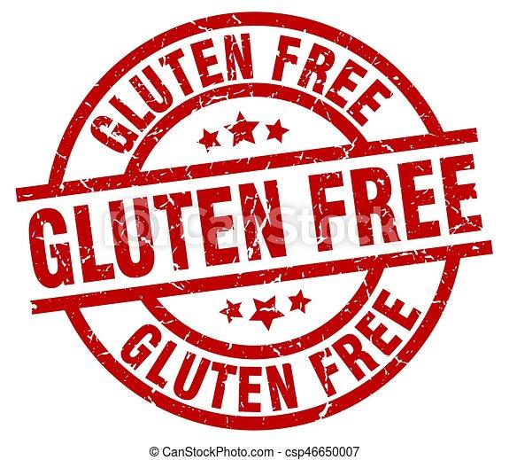 gluten free round red grunge stamp - csp46650007