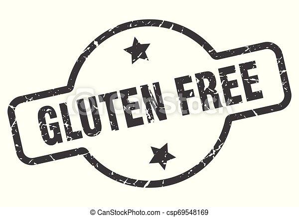 gluten free sign - csp69548169