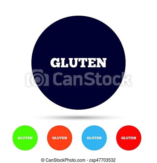 Gluten free sign icon  No gluten symbol