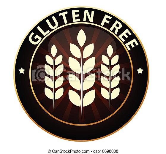 Gluten free sign - csp10698008