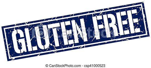 gluten free square grunge stamp - csp41000523