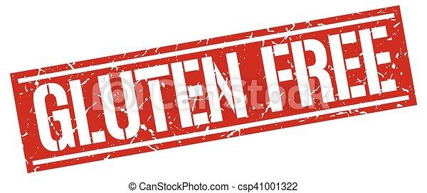 gluten free square grunge stamp - csp41001322