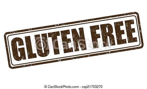 Gluten free stamp - csp21703270