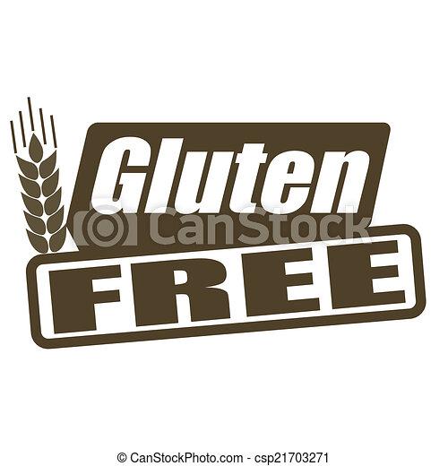 Gluten free stamp - csp21703271