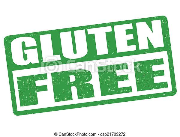 Gluten free stamp - csp21703272