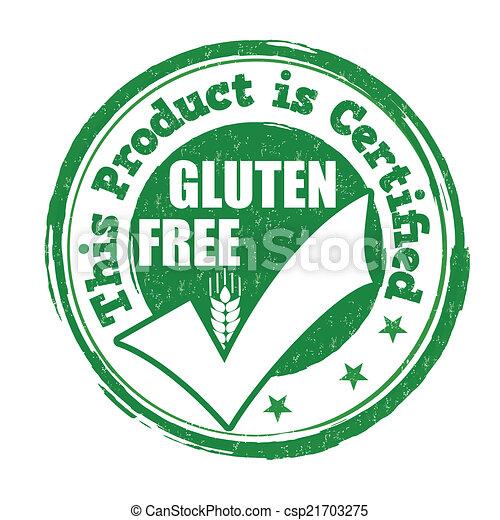 Gluten free stamp - csp21703275
