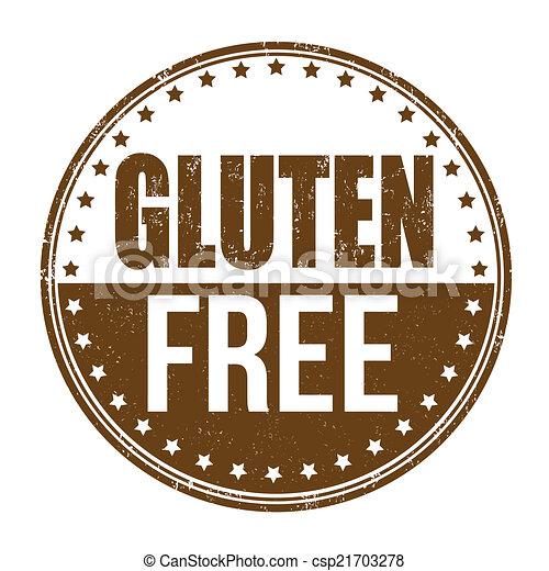 Gluten free stamp - csp21703278