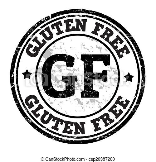 Gluten free stamp - csp20387200
