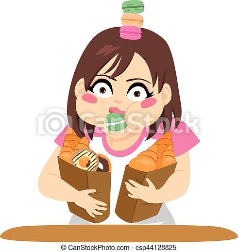 Gluttony Woman - csp44128825
