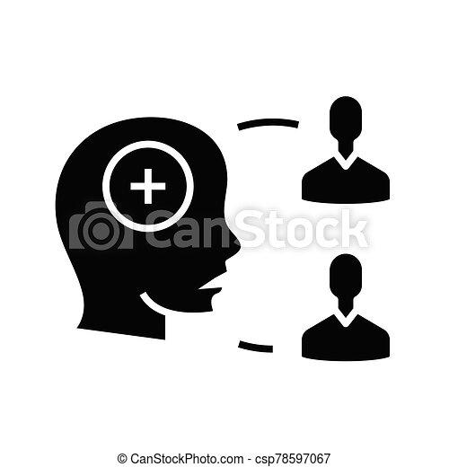 glyph, consenso, general, plano, concepto, negro, icono, signo., símbolo, vector, ilustración - csp78597067