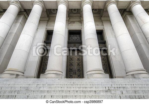gmach, stan, historyczny, wejście, kapitał - csp3986897