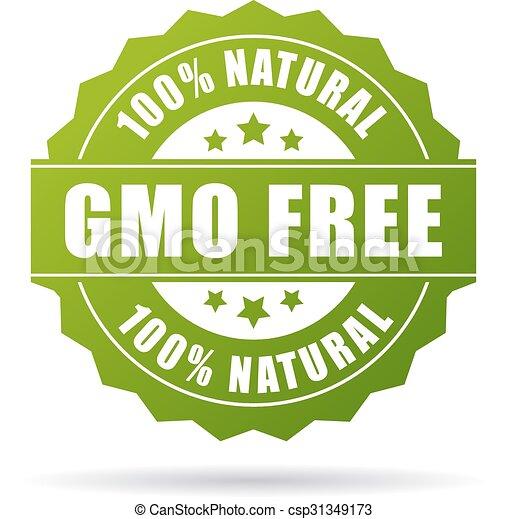 gmo, produto, natural, livre, ícone - csp31349173