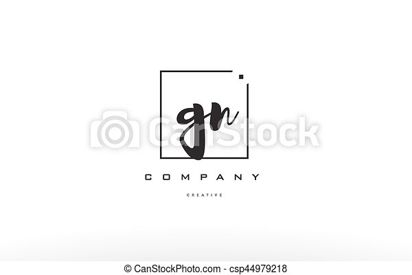 Gn G N Hand Writing Letter Company Logo Icon Design Gn G N Hand