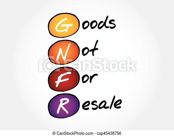 gnfr goods not for resale acronym business concept clipart vector rh canstockphoto com free resale clipart