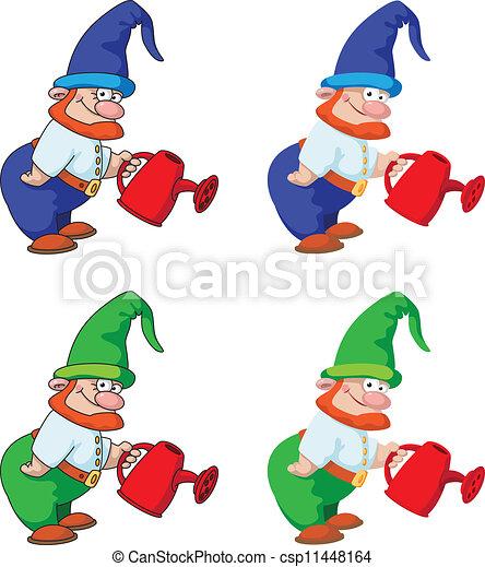 gnome gardener - csp11448164
