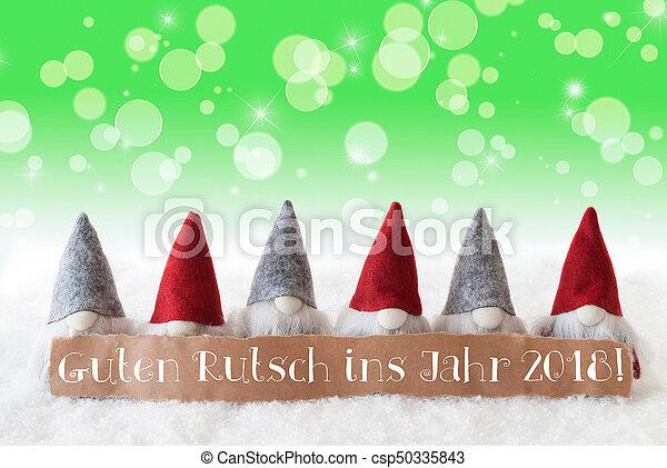Gnomes green bokeh stars guten rutsch 2018 means new year label gnomes green bokeh stars guten rutsch 2018 means new year csp50335843 m4hsunfo