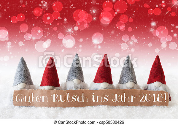 Gnomes red bokeh stars guten rutsch 2018 means new year label gnomes red bokeh stars guten rutsch 2018 means new year csp50530426 m4hsunfo