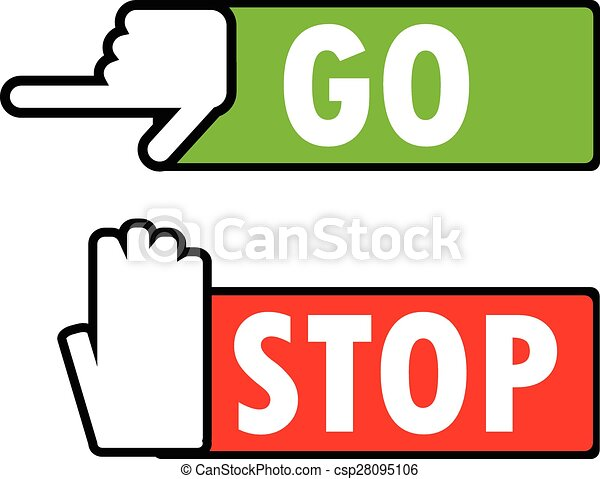 Go Sign Icon Go and stop nav...